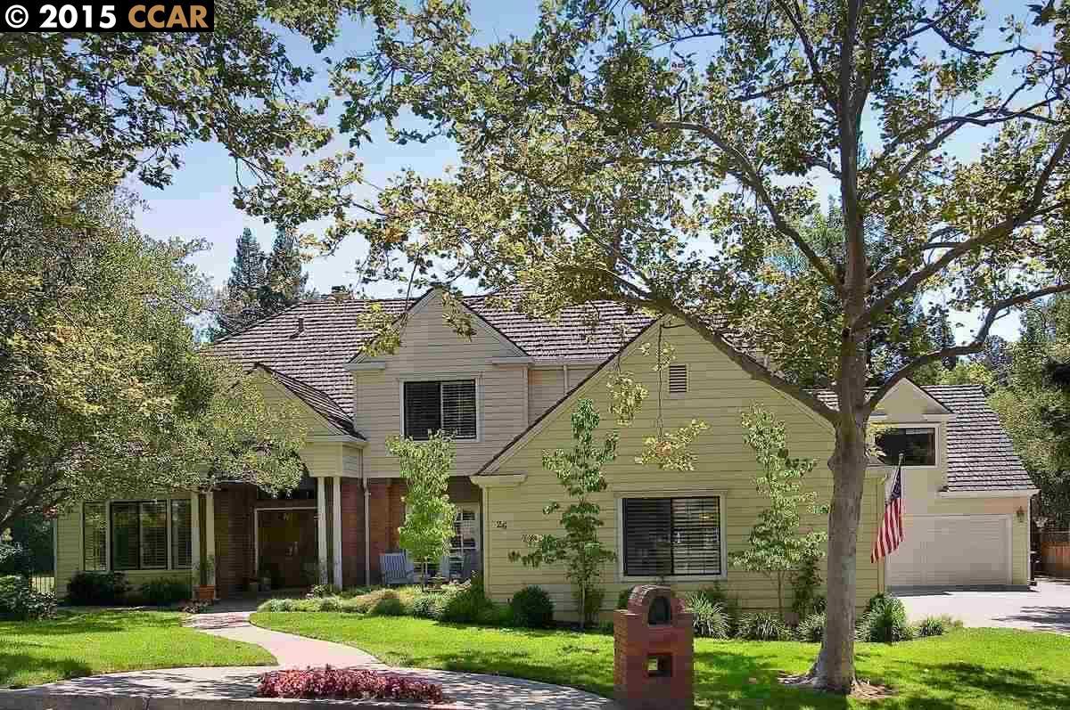 Частный односемейный дом для того Продажа на 26 Chestnut Place Danville, Калифорния 94506 Соединенные Штаты
