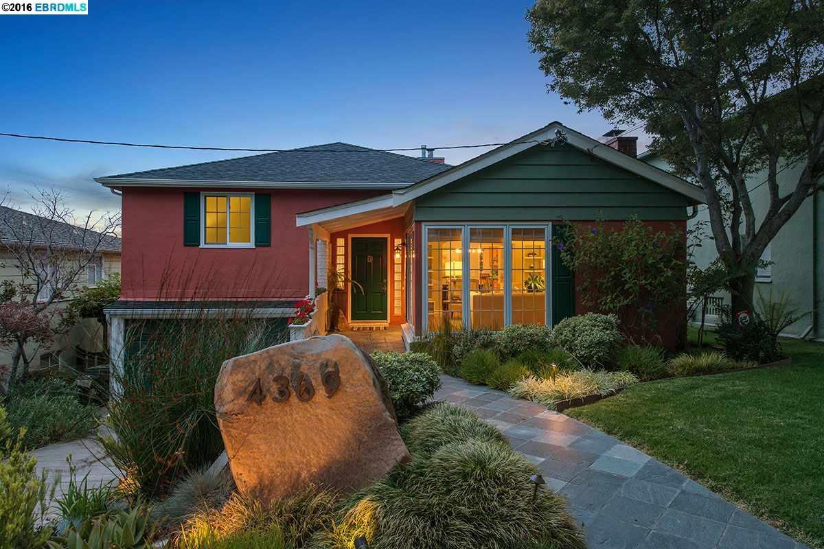 Частный односемейный дом для того Продажа на 4369 DETROIT Avenue Oakland, Калифорния 94619 Соединенные Штаты