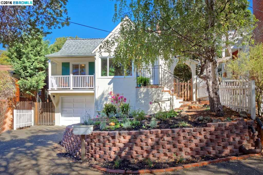Charming well kept Kensington home ideally located in a great walking neighborhood by Kensington Circle. Open beam ceiling, peek-a-boo views of the Bay, updated kitchen, pantry, adjoining dining area overlooks a large landscaped yard & patio. Hardwood floors, fresh paint, new roof.