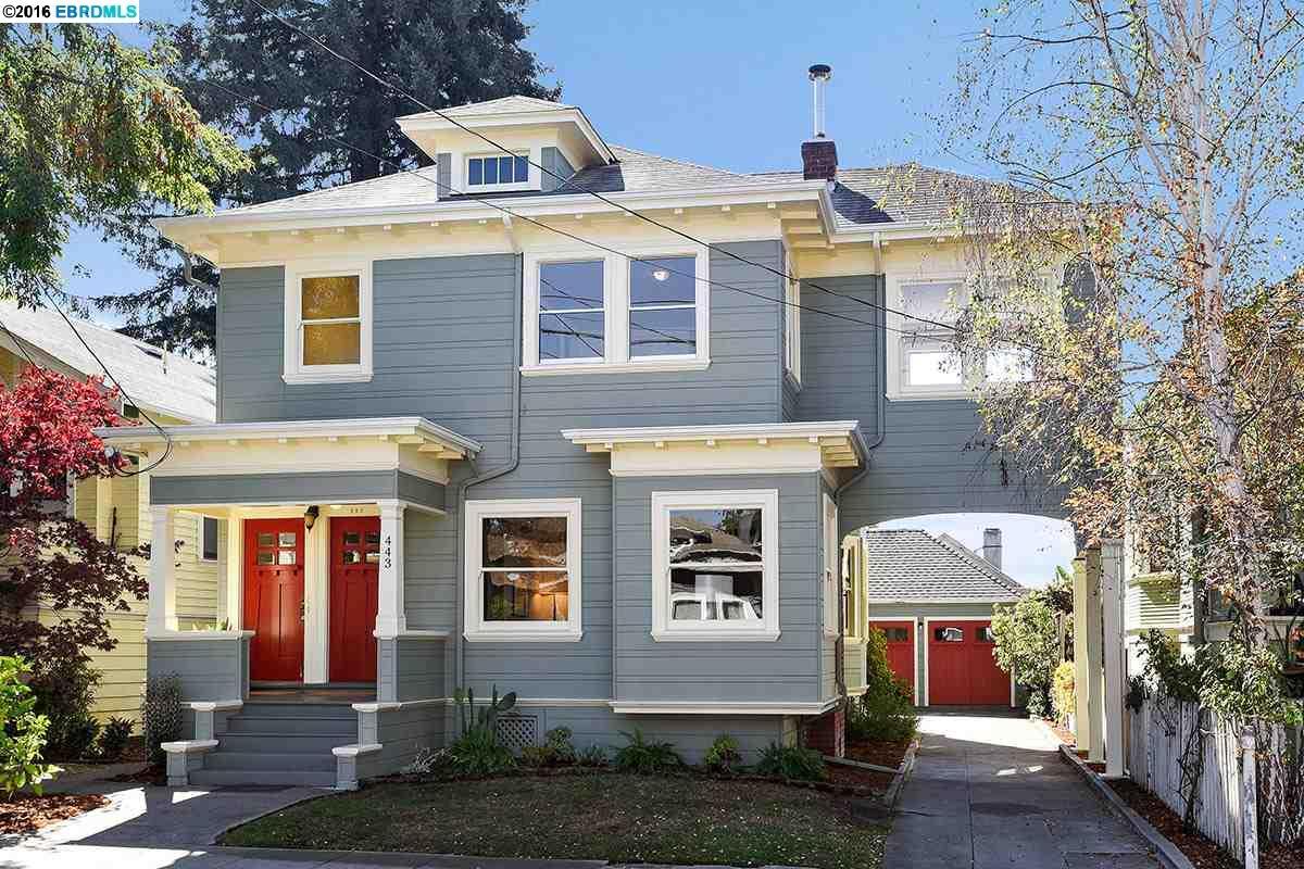 Многосемейный дом для того Продажа на 443 62nd Street Oakland, Калифорния 94609 Соединенные Штаты