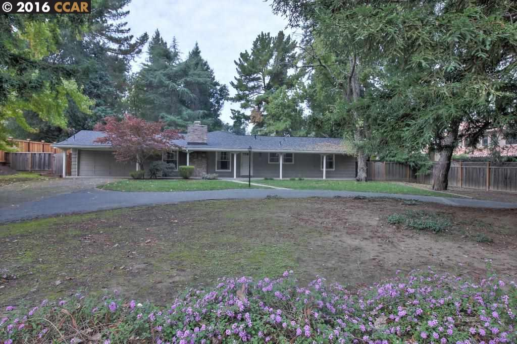 Частный односемейный дом для того Аренда на 238 Camille Avenue Alamo, Калифорния 94507 Соединенные Штаты