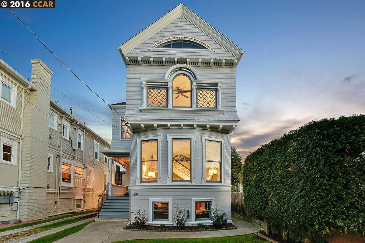 Частный односемейный дом для того Продажа на 1218 Chestnut Street Alameda, Калифорния 94501 Соединенные Штаты