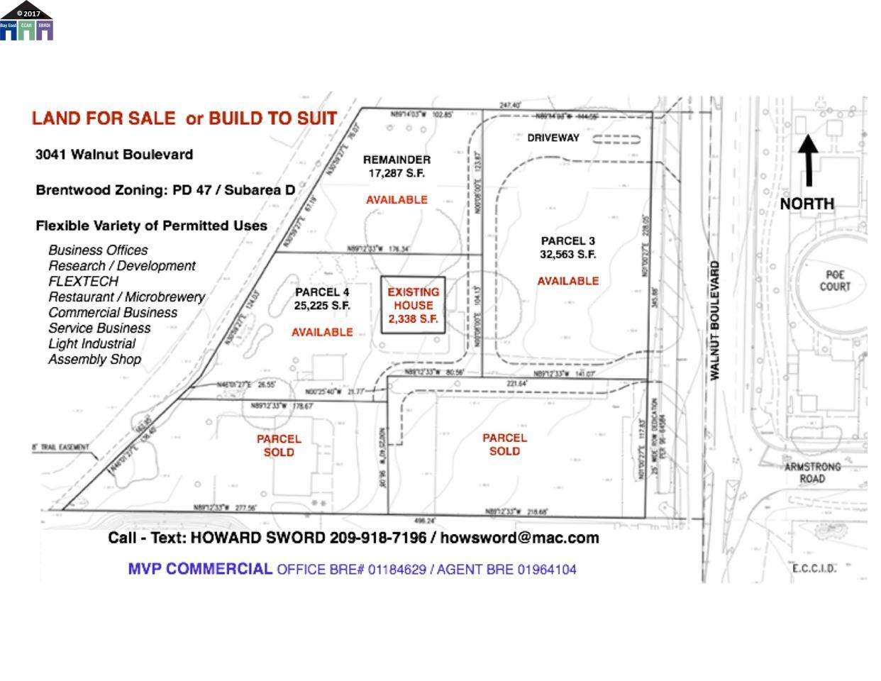 Land for Sale at 3041 Walnut Boulevard Brentwood, California 94513 United States