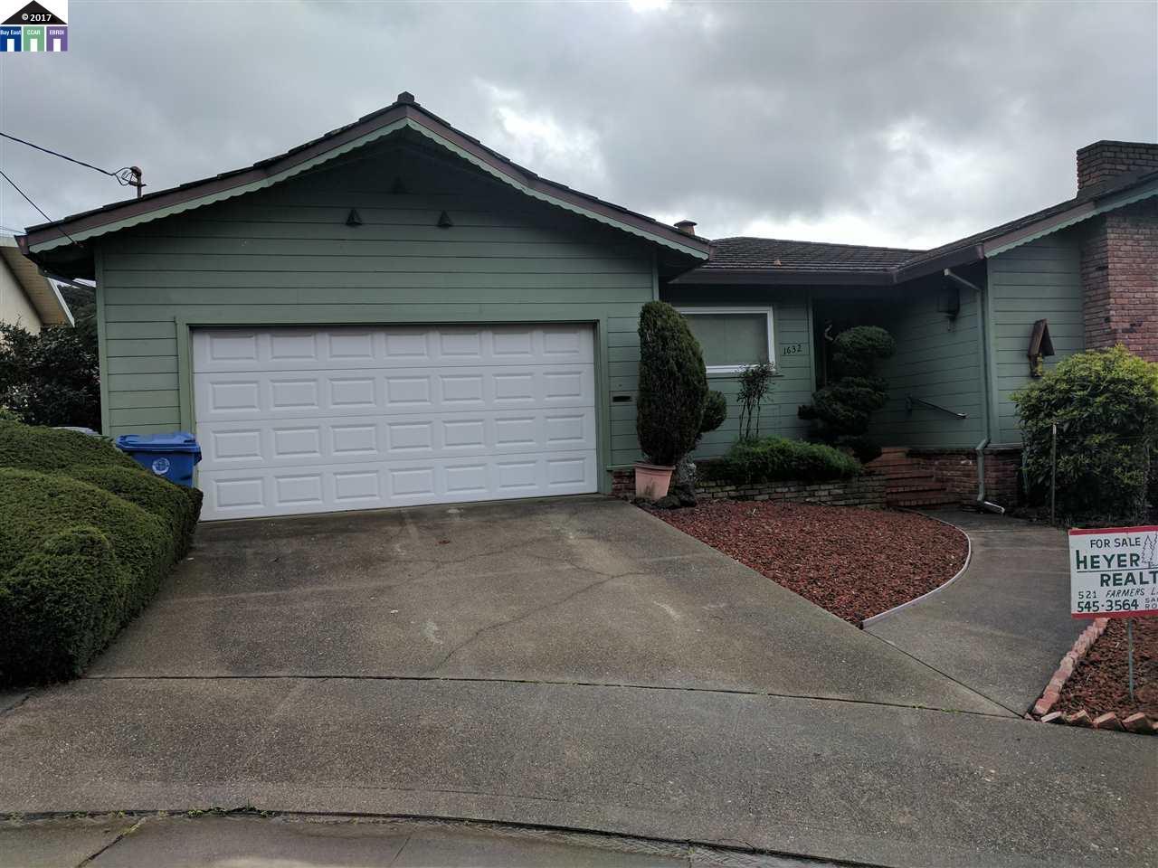 獨棟家庭住宅 為 出售 在 1632 Roger Court El Cerrito, 加利福尼亞州 94530 美國
