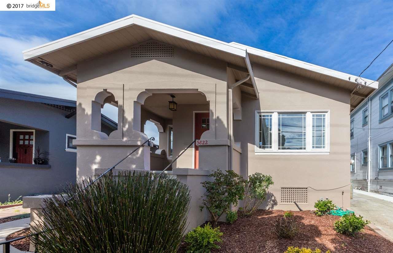 Einfamilienhaus für Verkauf beim 5822 Shattuck Avenue Oakland, Kalifornien 94609 Vereinigte Staaten