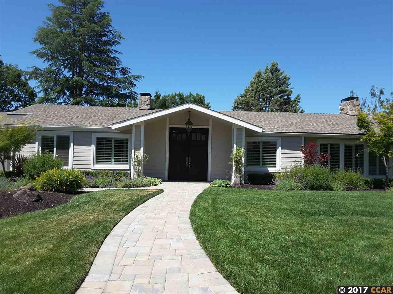 Einfamilienhaus für Mieten beim 3144 ROUNDHILL Road Alamo, Kalifornien 94507 Vereinigte Staaten