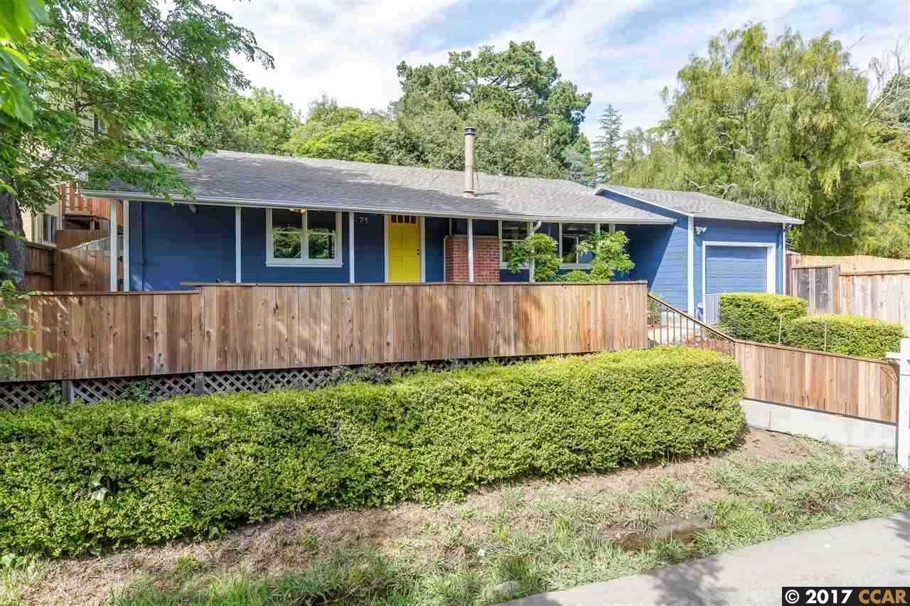 Single Family Home for Sale at 71 Rincon Road Kensington, California 94707 United States