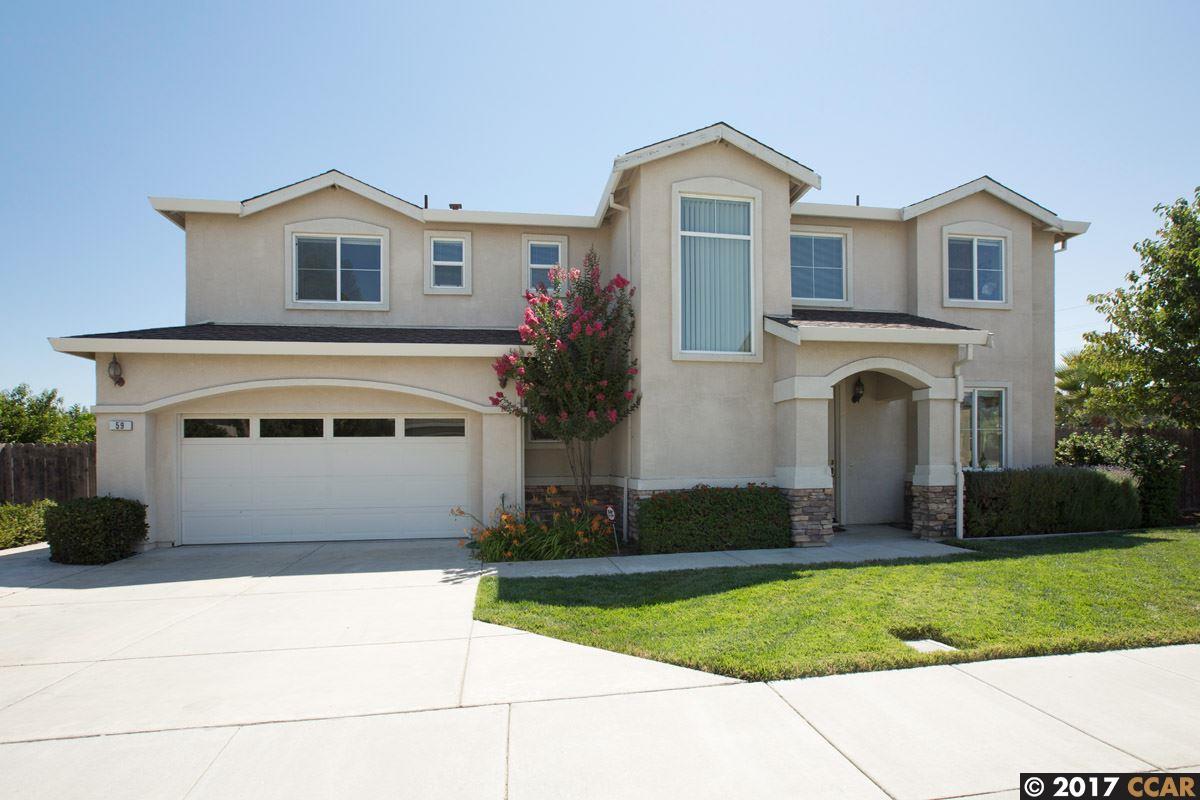 واحد منزل الأسرة للـ Sale في 59 Curtis Court Bay Point, California 94565 United States
