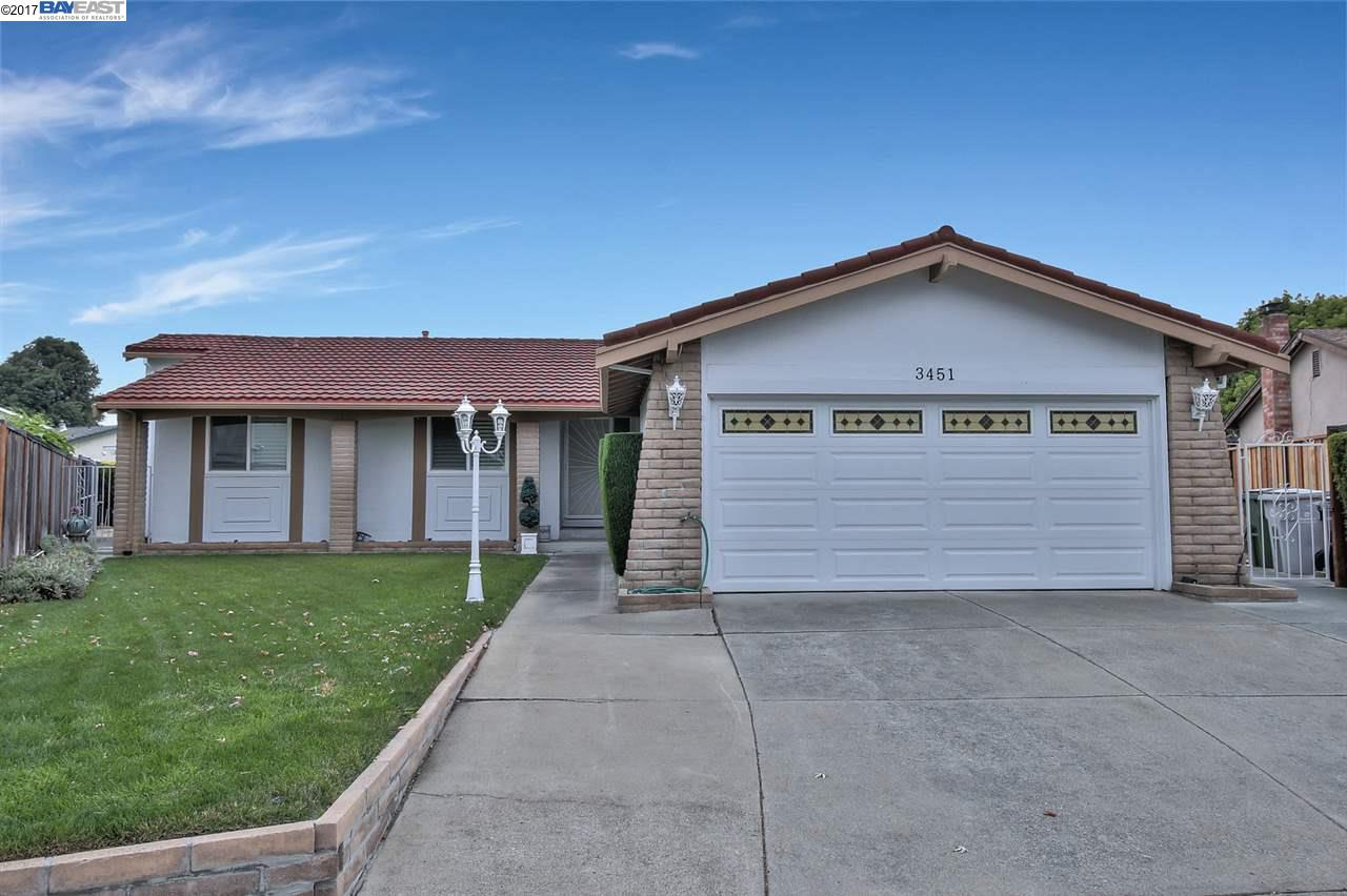 Maison unifamiliale pour l Vente à 3451 Davenant Court Fremont, Californie 94536 États-Unis