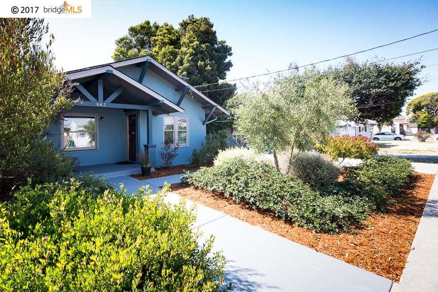 Casa Unifamiliar por un Venta en 663 30Th Street Richmond, California 94804 Estados Unidos