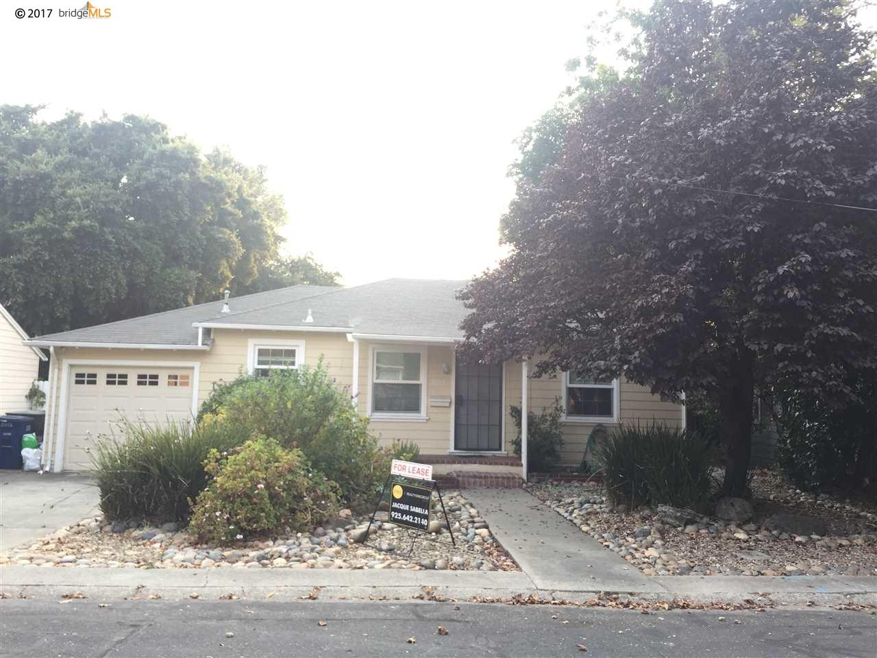 Single Family Home for Rent at 2013 BEACH Street 2013 BEACH Street Concord, California 94519 United States