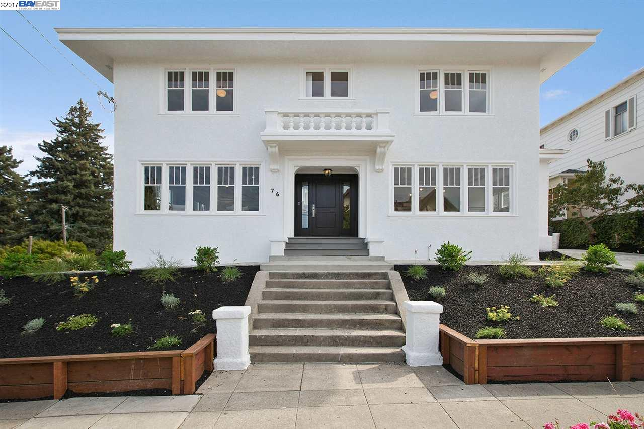Single Family Home for Sale at 76 Bayo Vista Avenue 76 Bayo Vista Avenue Oakland, California 94611 United States