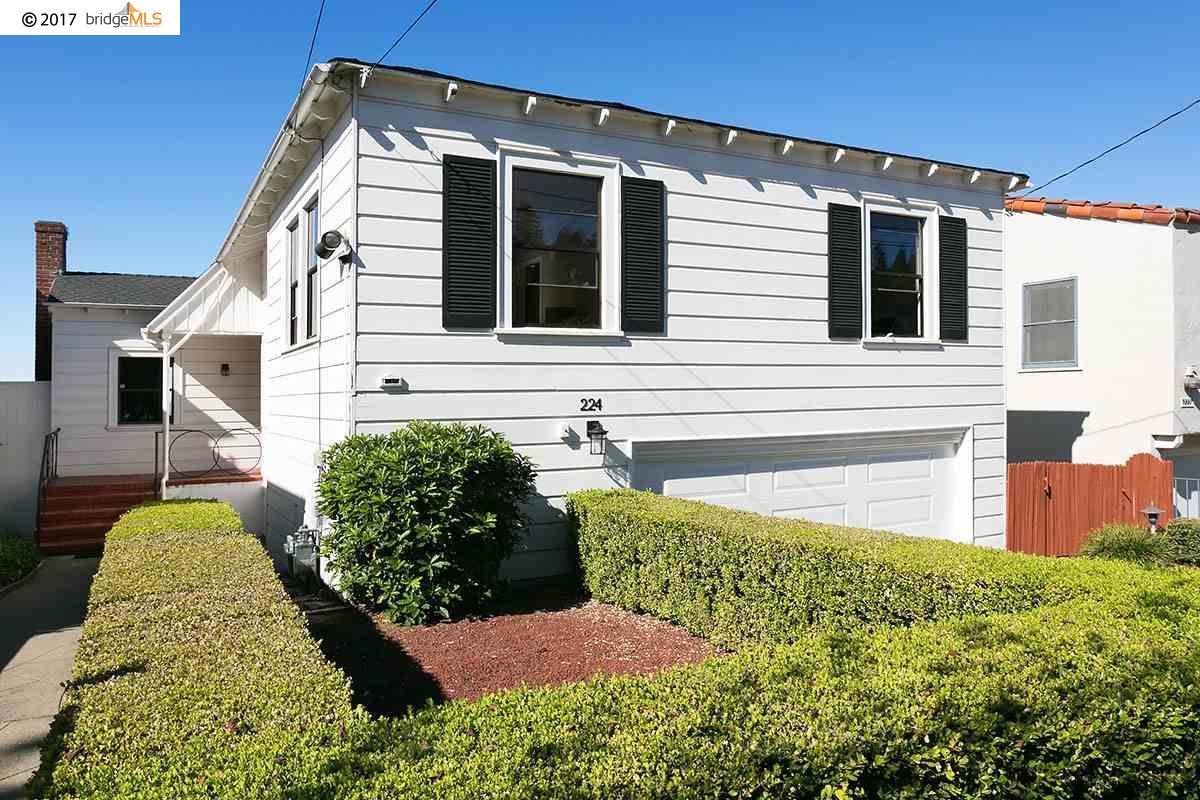Частный односемейный дом для того Продажа на 224 STANFORD AVENUE 224 STANFORD AVENUE Kensington, Калифорния 94708 Соединенные Штаты