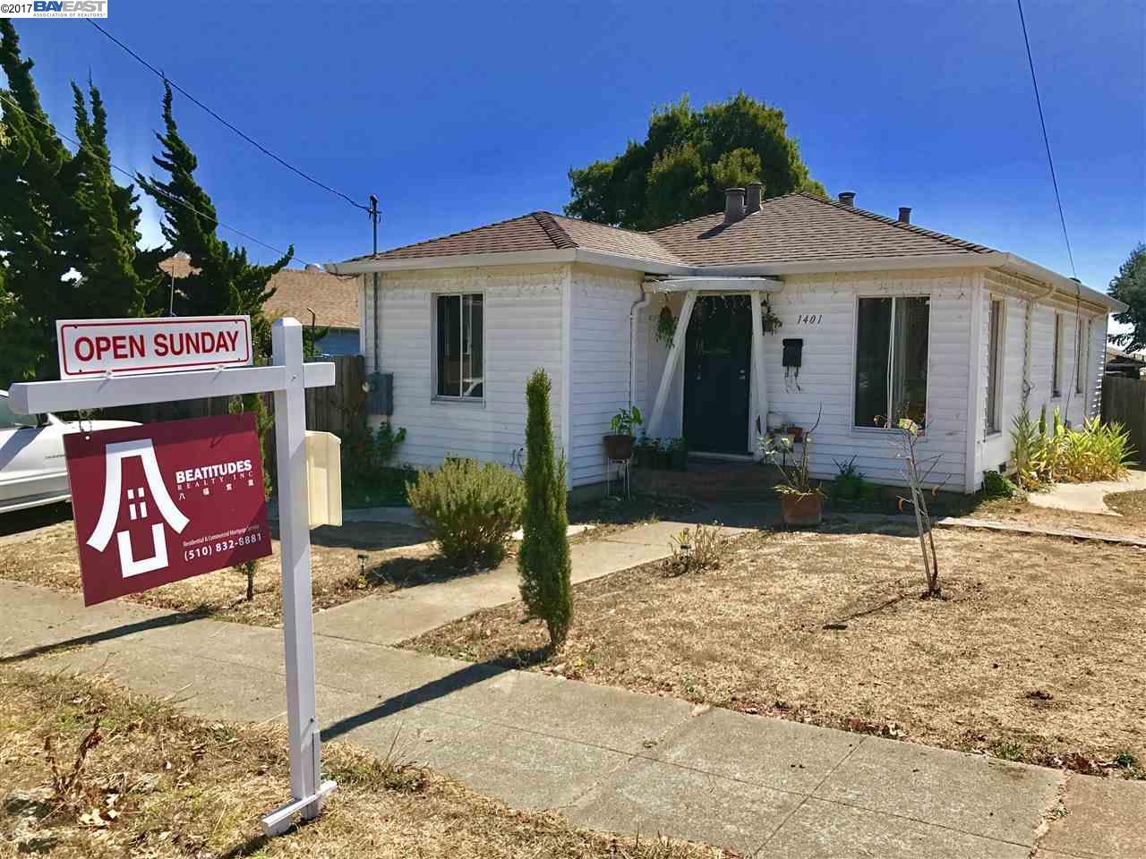 Casa Unifamiliar por un Venta en 1401 Santa Clara Richmond, California 94804 Estados Unidos