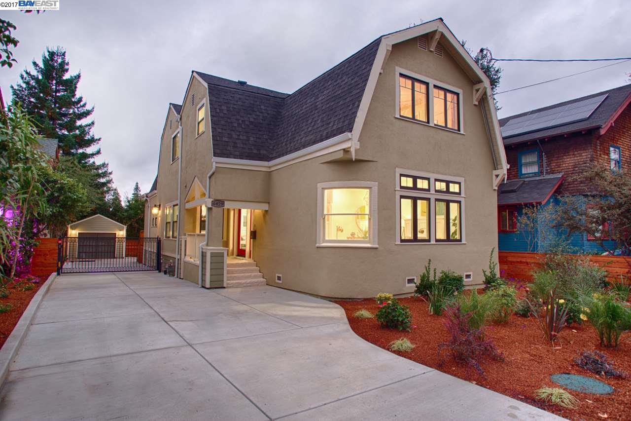 Частный односемейный дом для того Продажа на 6429 Regent Street 6429 Regent Street Oakland, Калифорния 94618 Соединенные Штаты