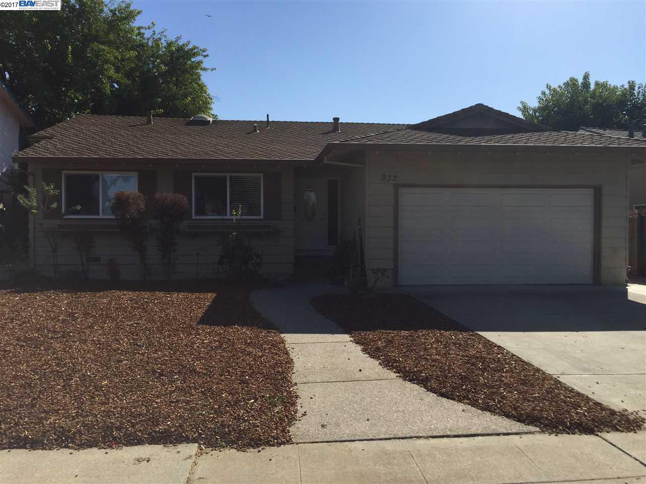 واحد منزل الأسرة للـ Rent في 933 Roxanne Street 933 Roxanne Street Livermore, California 94550 United States