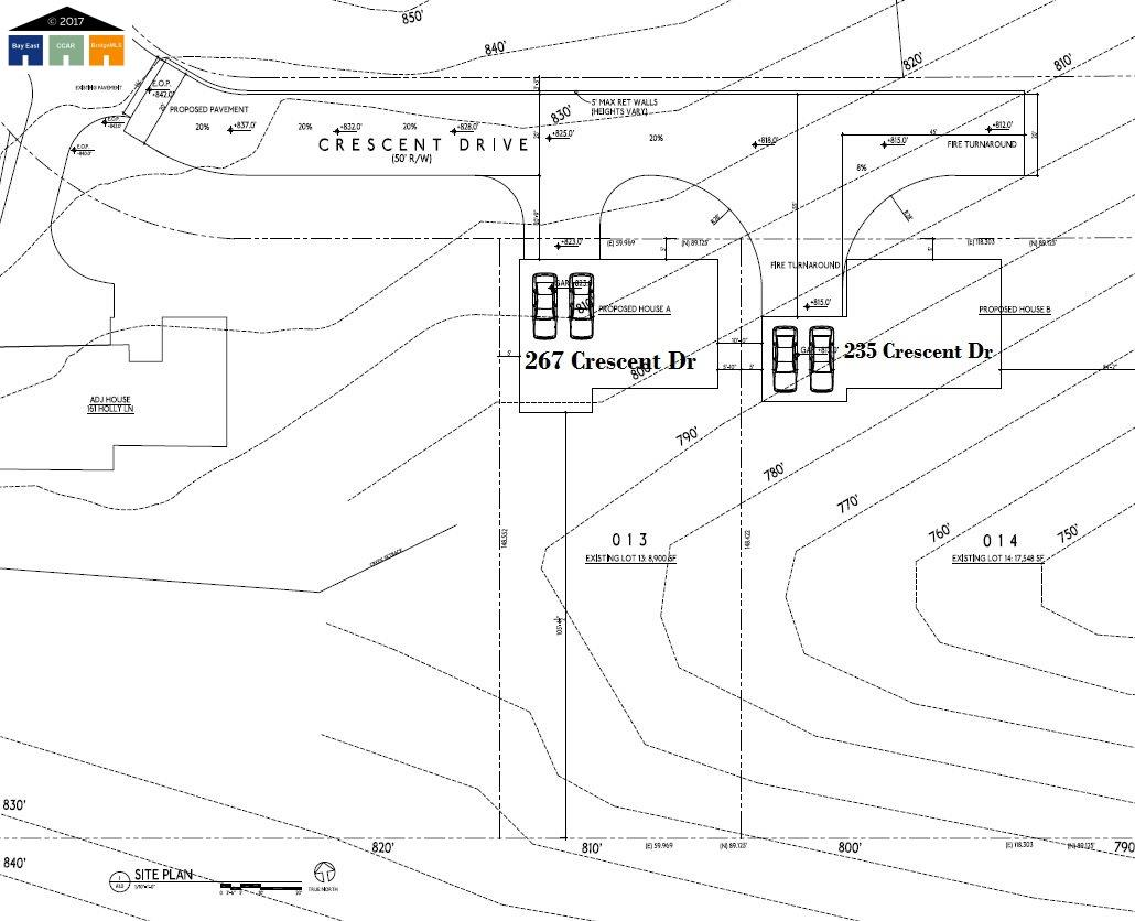 土地 為 出售 在 CRESCENT Drive CRESCENT Drive Orinda, 加利福尼亞州 94563 美國