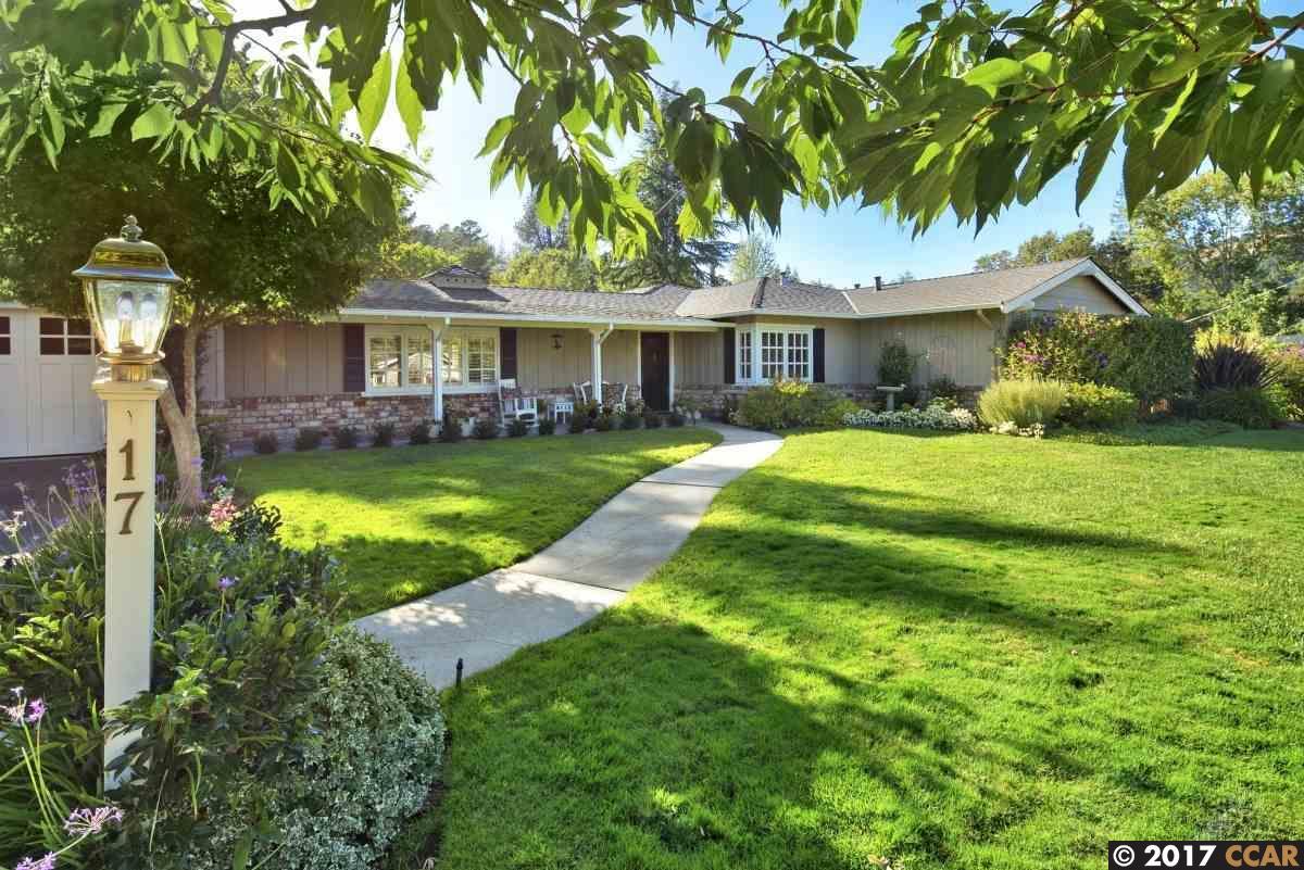 一戸建て のために 売買 アット 17 Hidden Valley Road 17 Hidden Valley Road Lafayette, カリフォルニア 94549 アメリカ合衆国