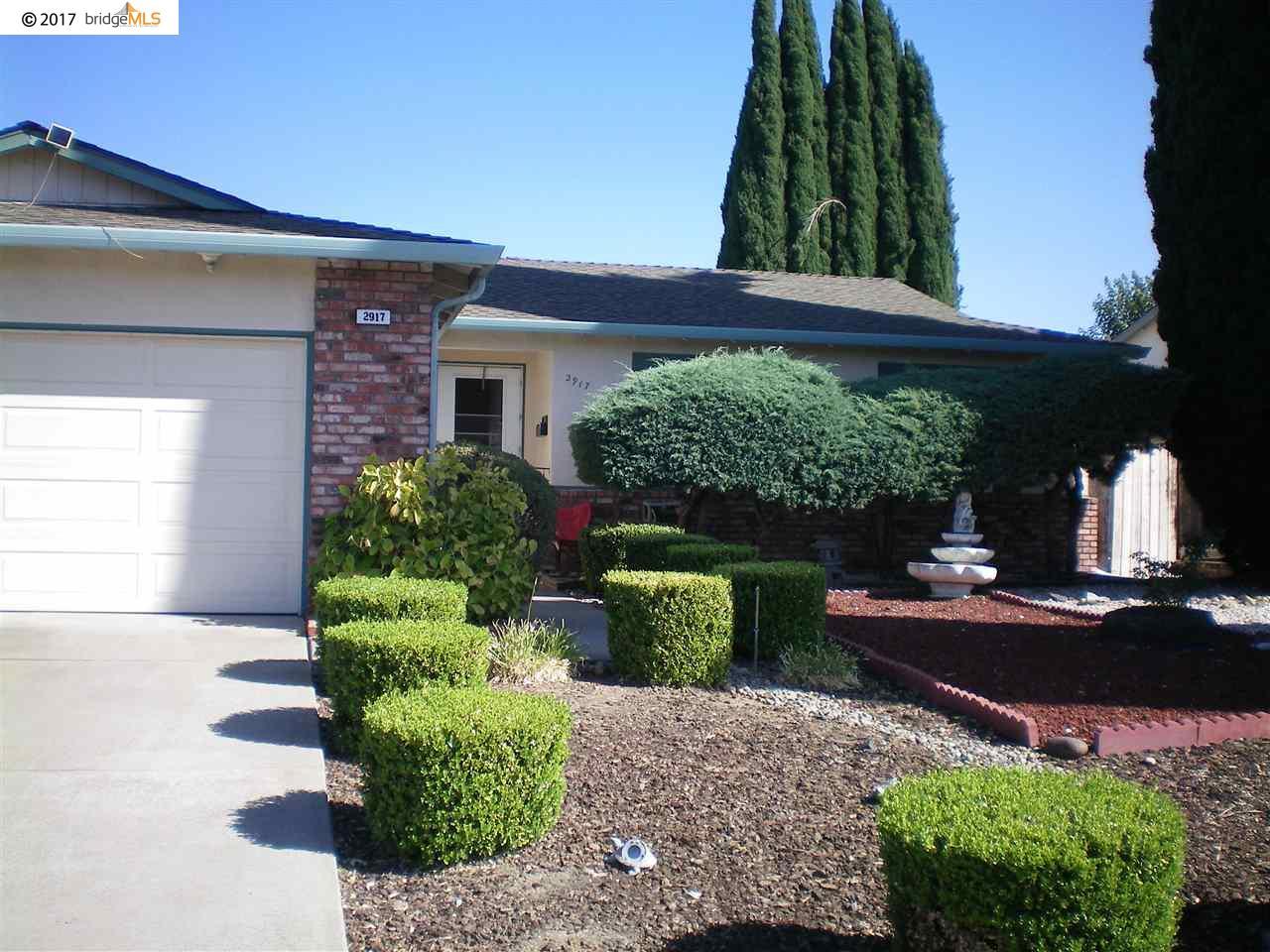 Частный односемейный дом для того Продажа на 2917 Palo Verde Way 2917 Palo Verde Way Antioch, Калифорния 94509 Соединенные Штаты