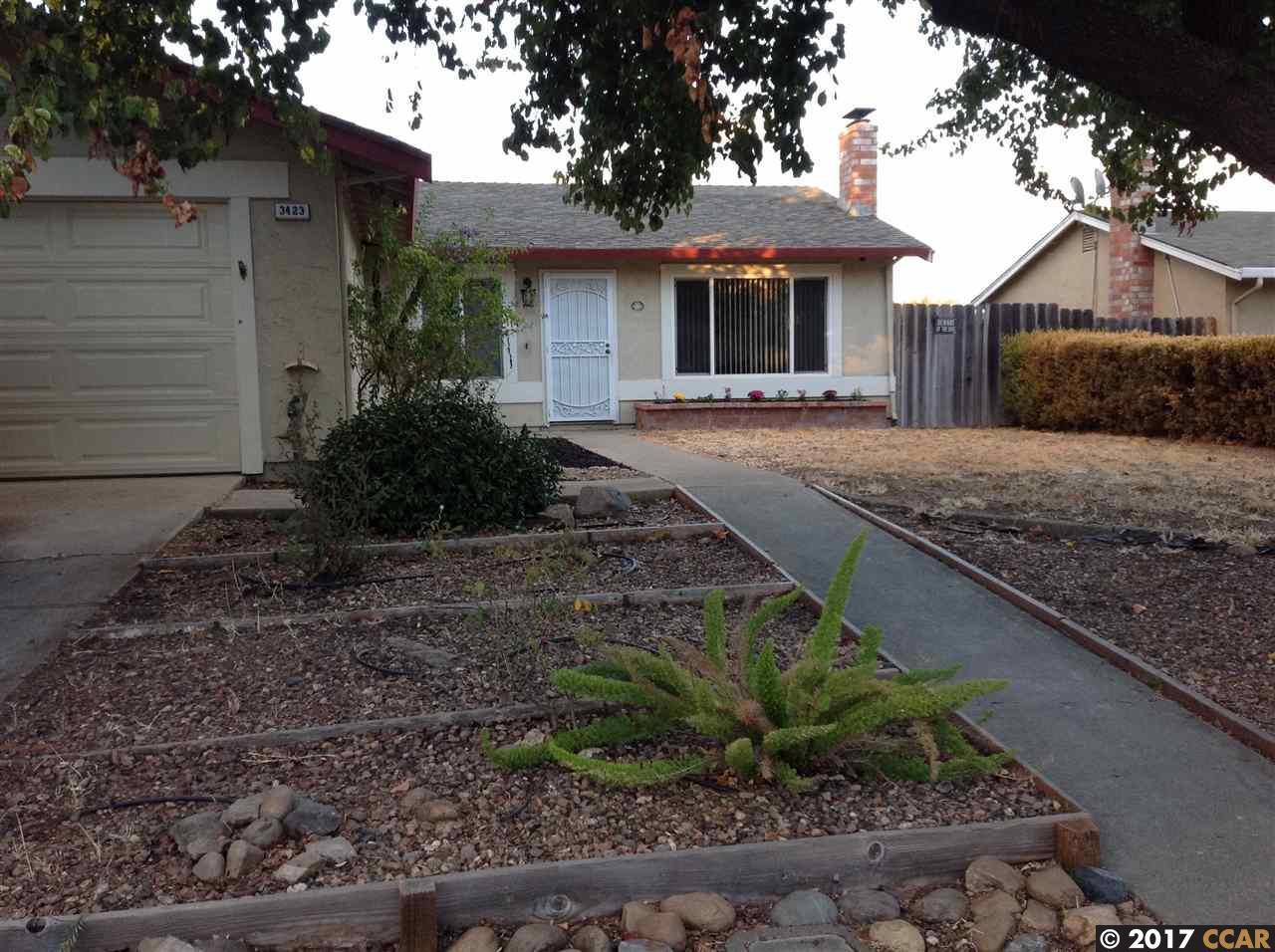 Частный односемейный дом для того Продажа на 3423 Dimaggio Way 3423 Dimaggio Way Antioch, Калифорния 94509 Соединенные Штаты