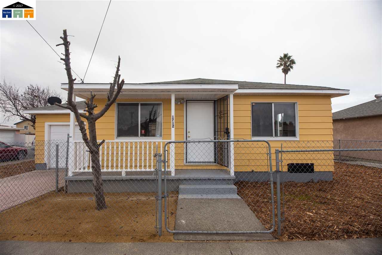 واحد منزل الأسرة للـ Sale في 1712 DOVER Avenue 1712 DOVER Avenue San Pablo, California 94806 United States