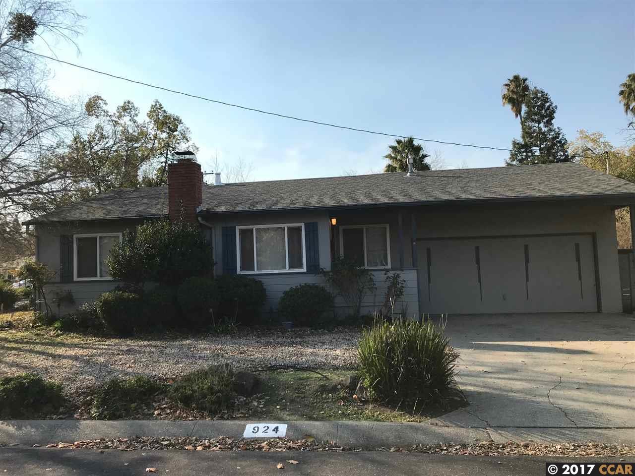一戸建て のために 賃貸 アット 924 Jeffry Drive 924 Jeffry Drive Pleasant Hill, カリフォルニア 94523 アメリカ合衆国