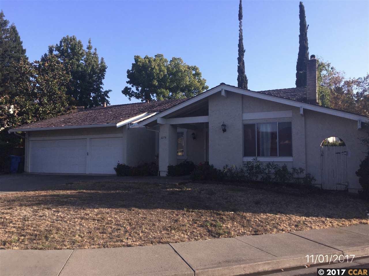 Частный односемейный дом для того Продажа на 2270 Bromfield Court 2270 Bromfield Court Walnut Creek, Калифорния 94596 Соединенные Штаты
