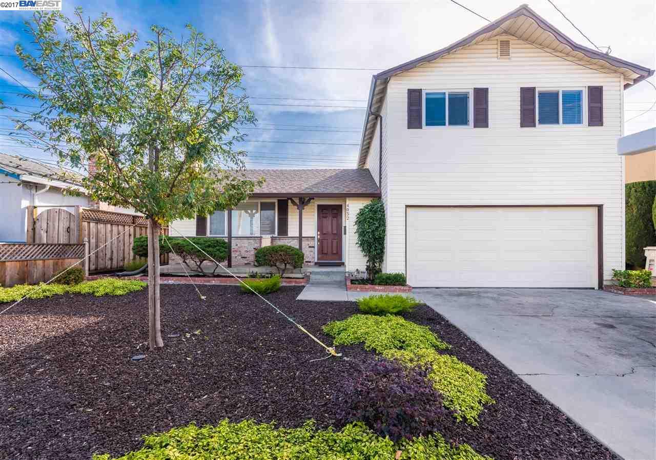 Частный односемейный дом для того Продажа на 4032 Doane Street 4032 Doane Street Fremont, Калифорния 94538 Соединенные Штаты