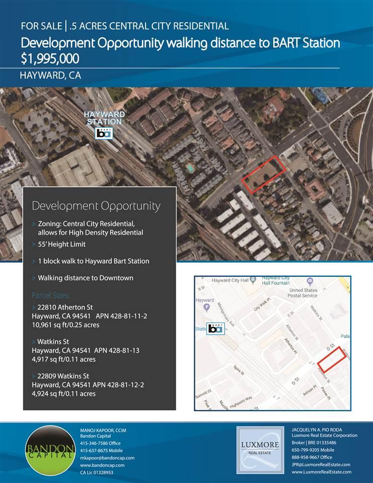Terrain pour l Vente à 22810 Atherton Street 22810 Atherton Street Hayward, Californie 94541 États-Unis