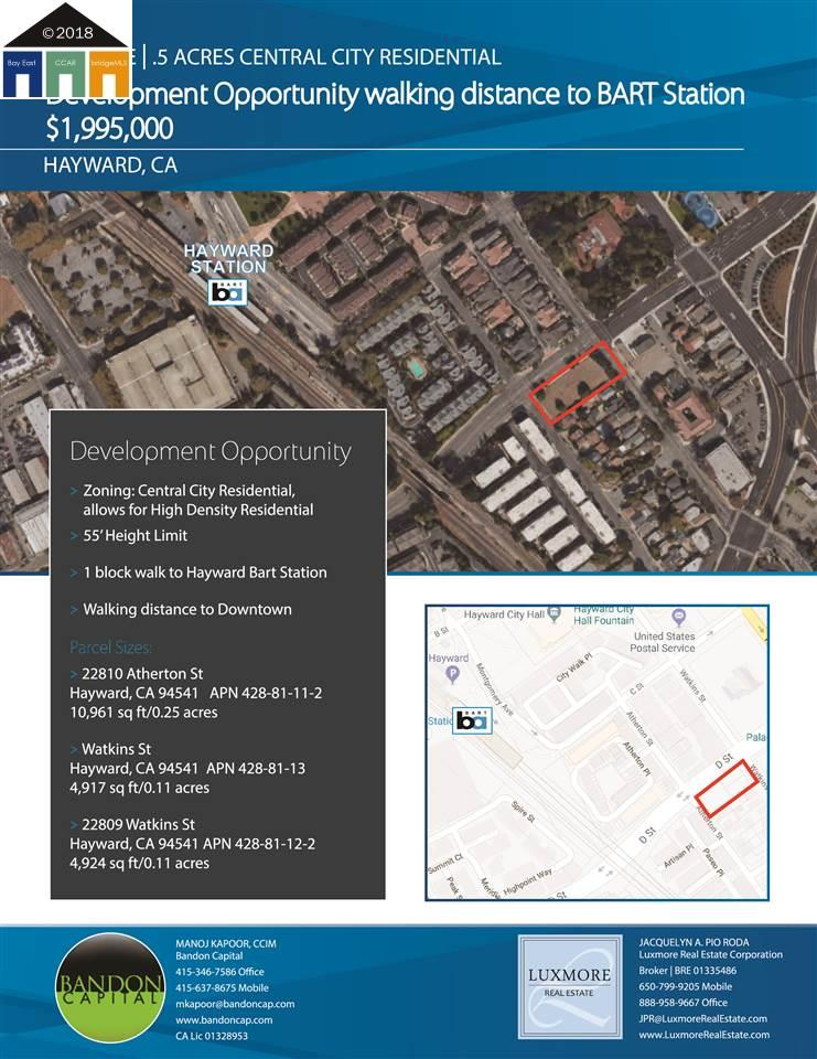Land for Sale at 22809 Watkins Street 22809 Watkins Street Hayward, California 94541 United States