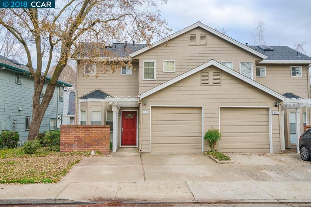 Maison accolée pour l Vente à 117 Fig Tree Lane 117 Fig Tree Lane Martinez, Californie 94553 États-Unis