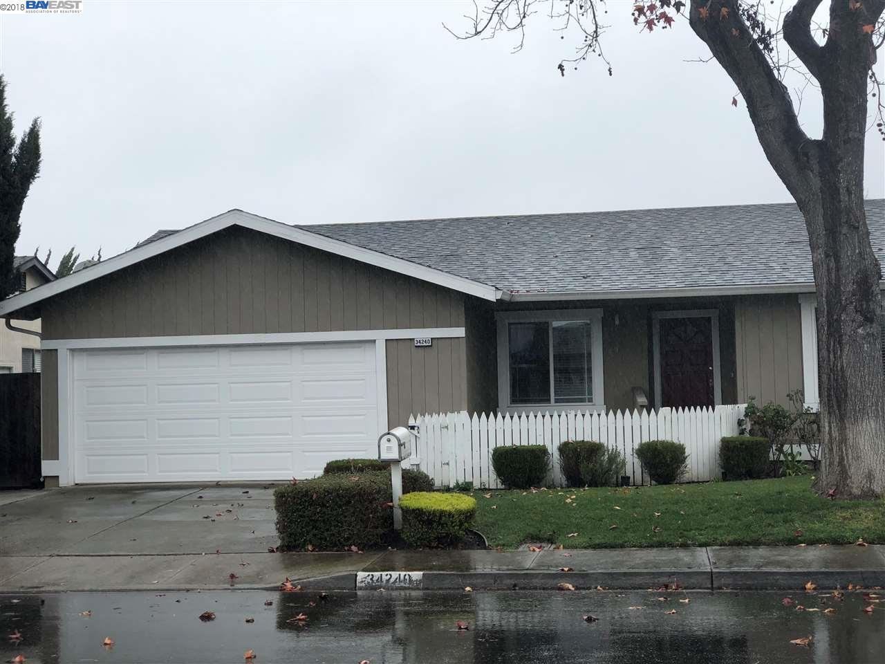 Частный односемейный дом для того Продажа на 34240 Tartarian Way 34240 Tartarian Way Union City, Калифорния 94587 Соединенные Штаты