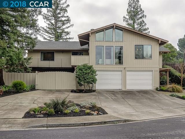 واحد منزل الأسرة للـ Sale في 119 Starlyn Drive 119 Starlyn Drive Pleasant Hill, California 94523 United States