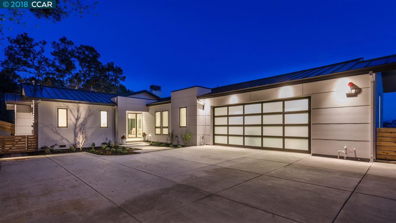 Частный односемейный дом для того Продажа на 30 Charles Hill Circle 30 Charles Hill Circle Orinda, Калифорния 94563 Соединенные Штаты