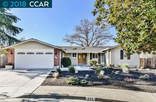 واحد منزل الأسرة للـ Sale في 111 Kelobra Court 111 Kelobra Court Walnut Creek, California 94598 United States