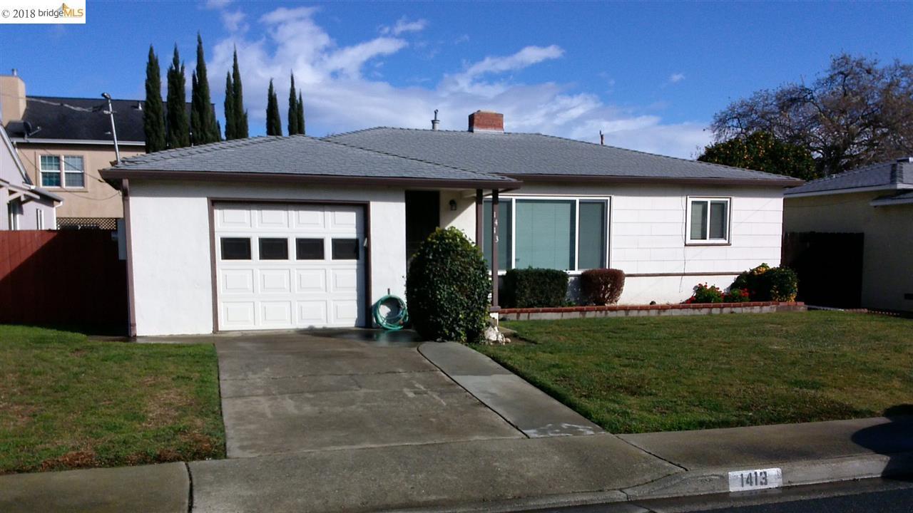 Частный односемейный дом для того Продажа на 1413 Marie Avenue 1413 Marie Avenue Antioch, Калифорния 94509 Соединенные Штаты