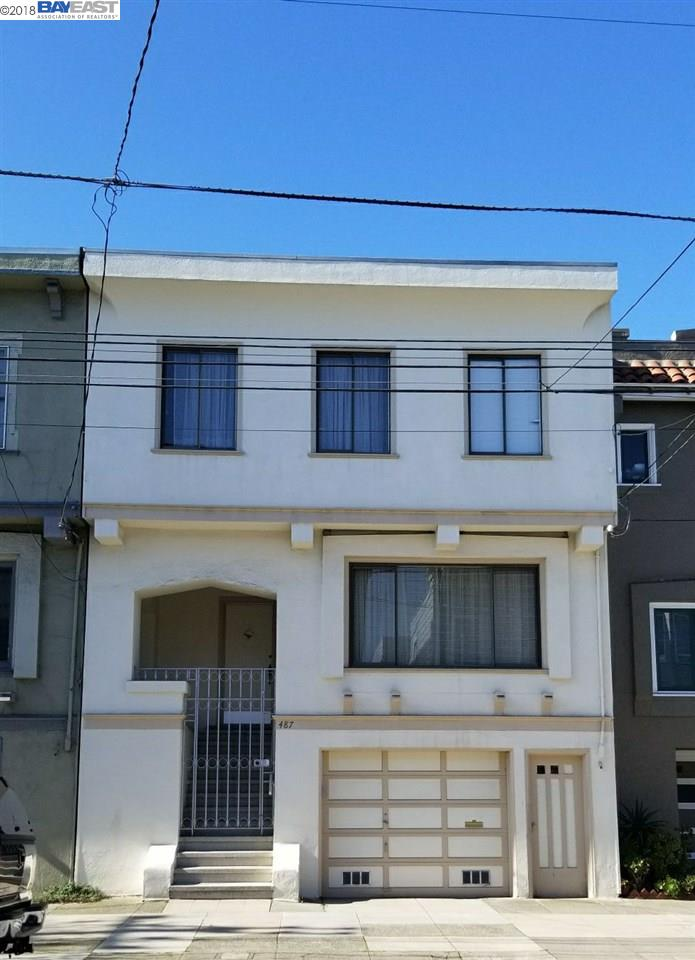 Single Family Home for Sale at 487 23rd Avenue 487 23rd Avenue San Francisco, California 94121 United States