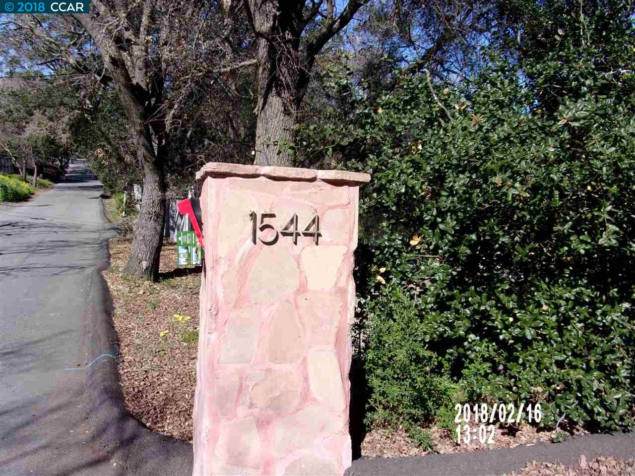 Single Family Home for Sale at 1544 Rancho View Drive 1544 Rancho View Drive Lafayette, California 94549 United States