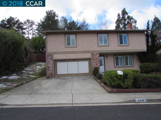 一戸建て のために 賃貸 アット 5416 Martis Court 5416 Martis Court El Sobrante, カリフォルニア 94803 アメリカ合衆国