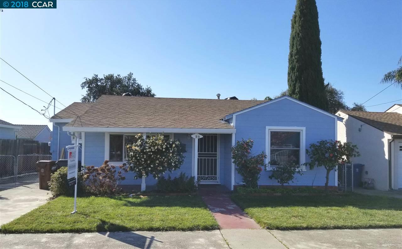 Частный односемейный дом для того Продажа на 94 e 13th Street 94 e 13th Street Antioch, Калифорния 94509 Соединенные Штаты