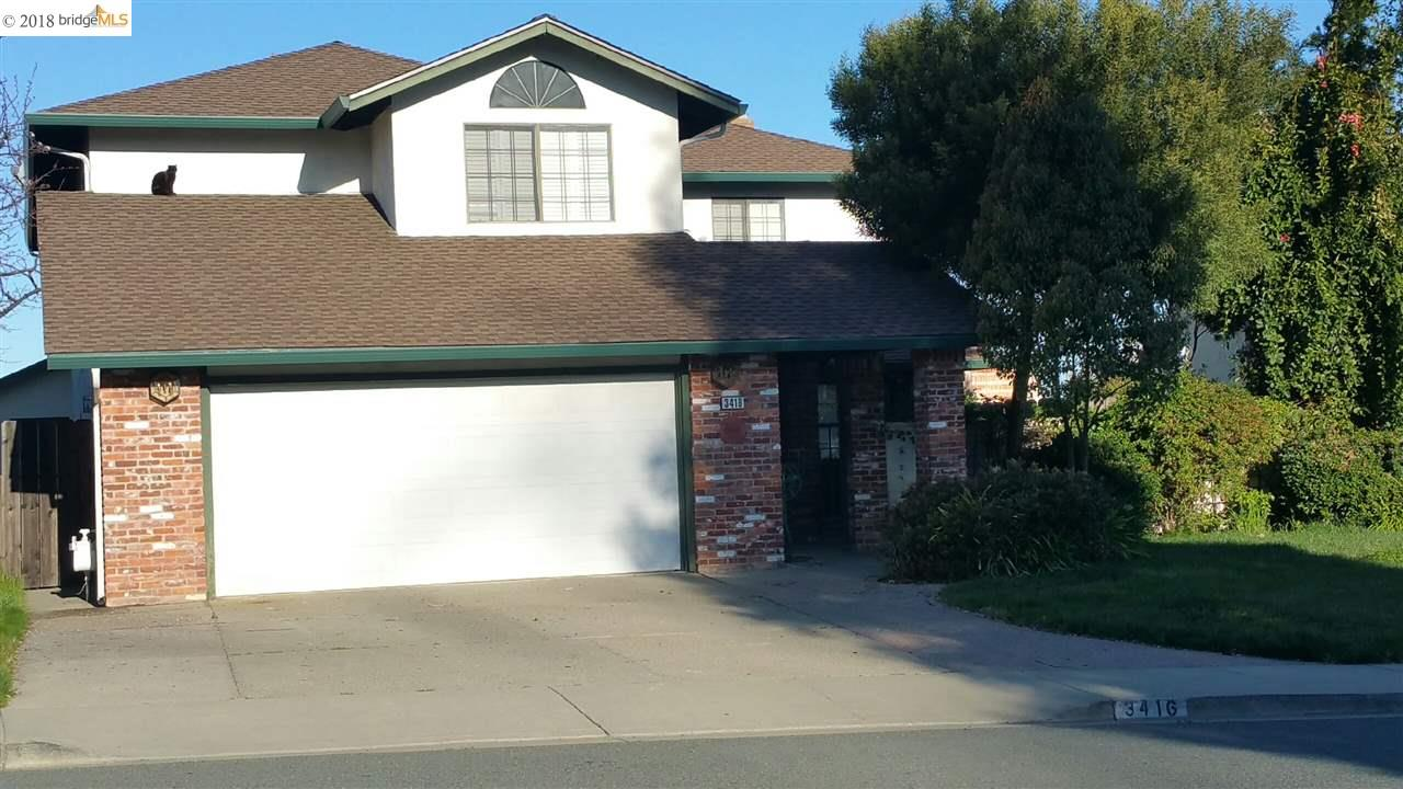 Single Family Home for Rent at 3416 Tabora Drive 3416 Tabora Drive Antioch, California 94509 United States
