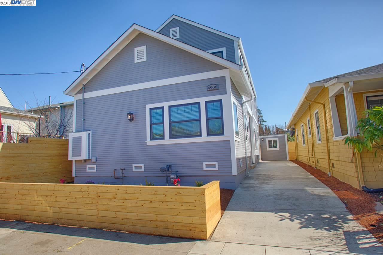 Single Family Home for Sale at 4906 Clarke Street 4906 Clarke Street Oakland, California 94609 United States