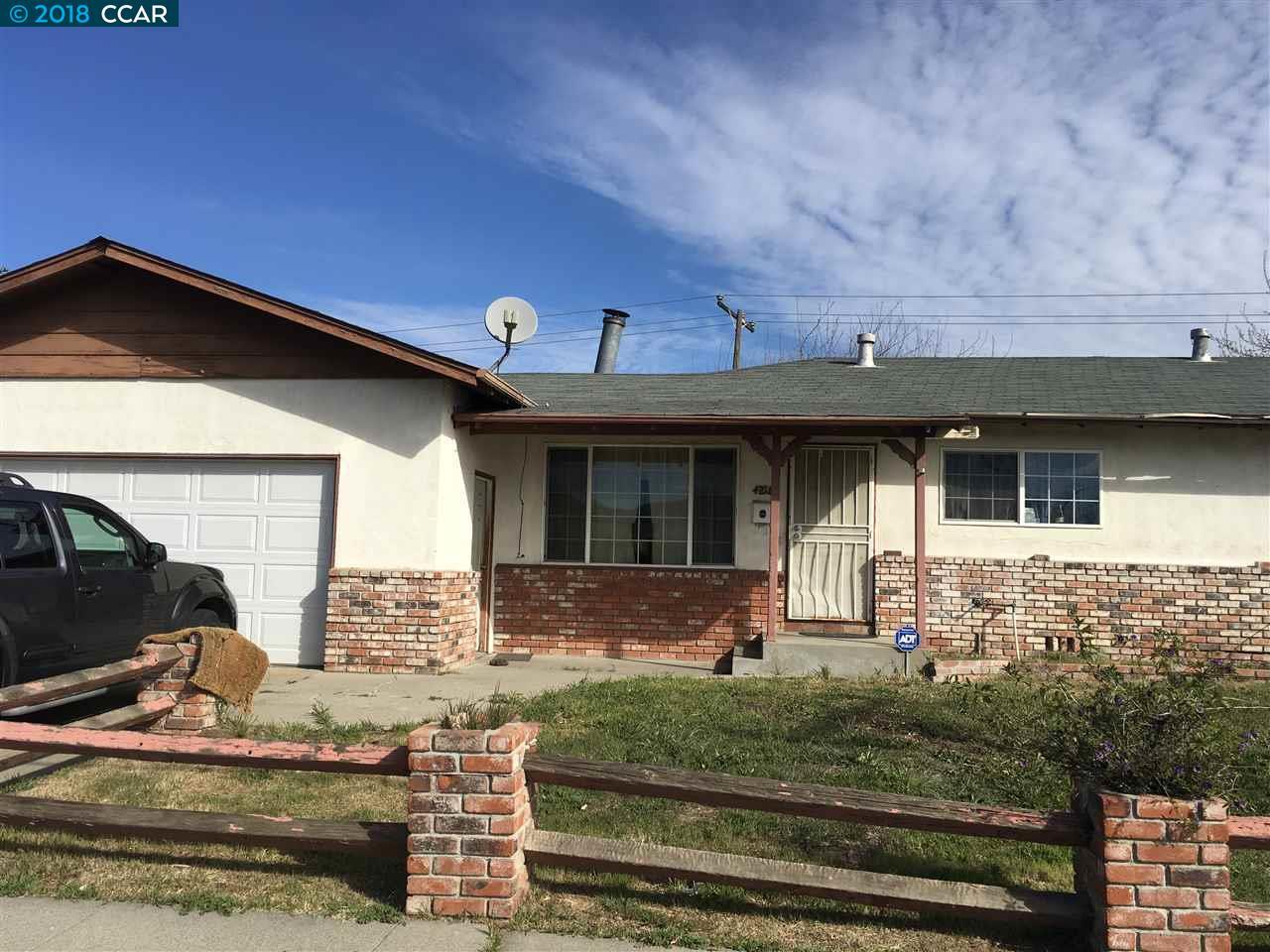 Частный односемейный дом для того Продажа на 4218 Belle Drive 4218 Belle Drive Antioch, Калифорния 94509 Соединенные Штаты