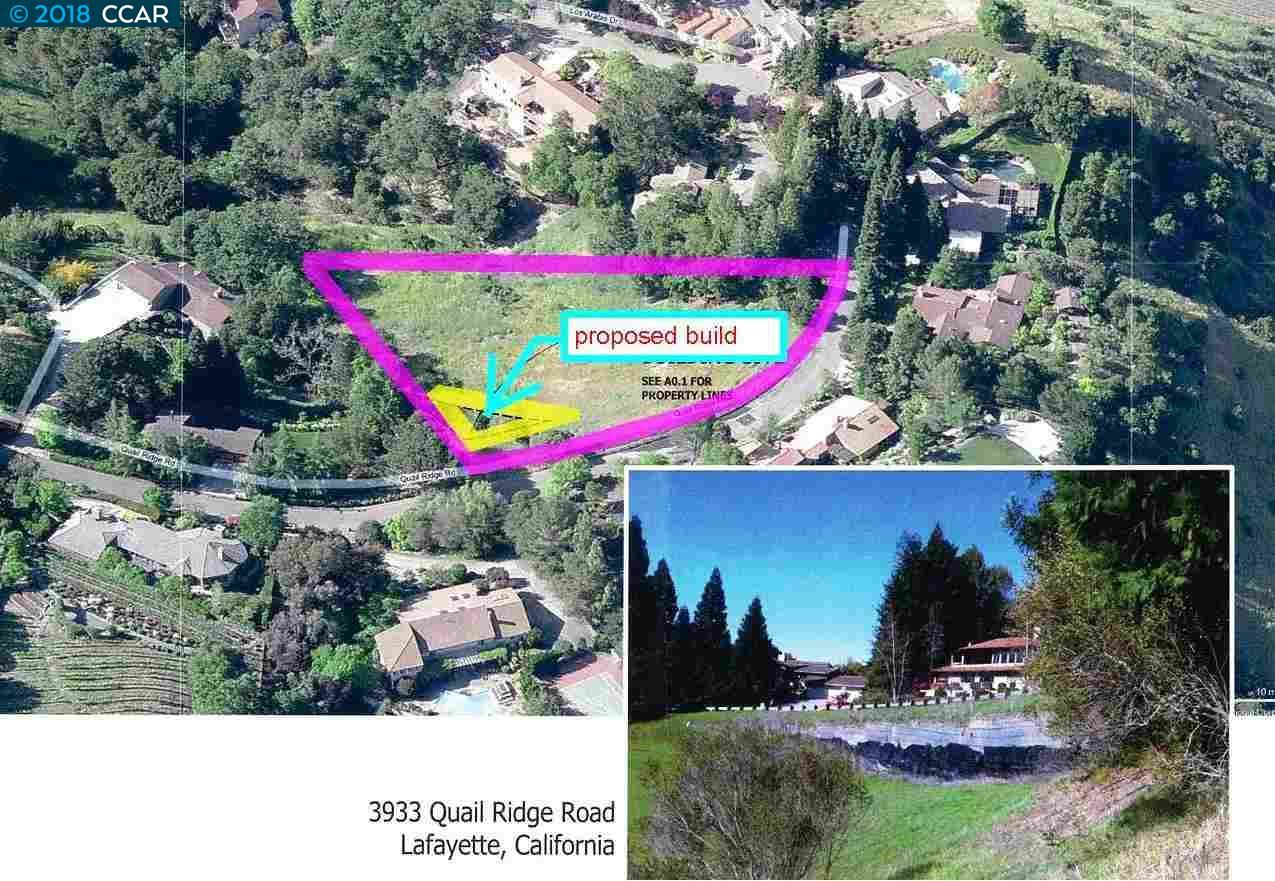 Land for Sale at 3933 Quail Ridge Road 3933 Quail Ridge Road Lafayette, California 94549 United States