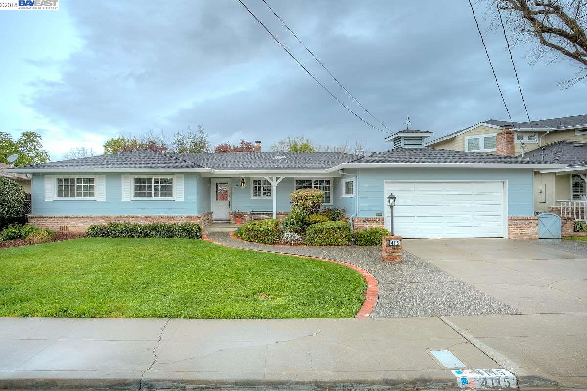 Casa Unifamiliar por un Alquiler en 4115 School 4115 School Pleasanton, California 94566 Estados Unidos