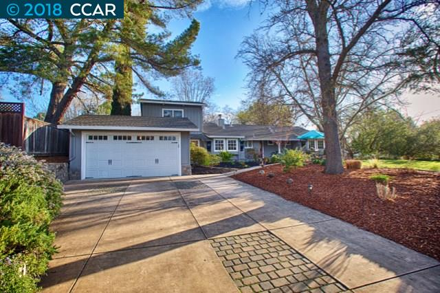 Single Family Home for Sale at 2172 Hadden Road 2172 Hadden Road Walnut Creek, California 94596 United States