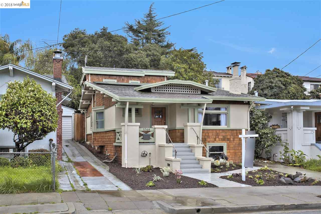 獨棟家庭住宅 為 出售 在 3748 Woodruff Avenue 3748 Woodruff Avenue Oakland, 加利福尼亞州 94602 美國