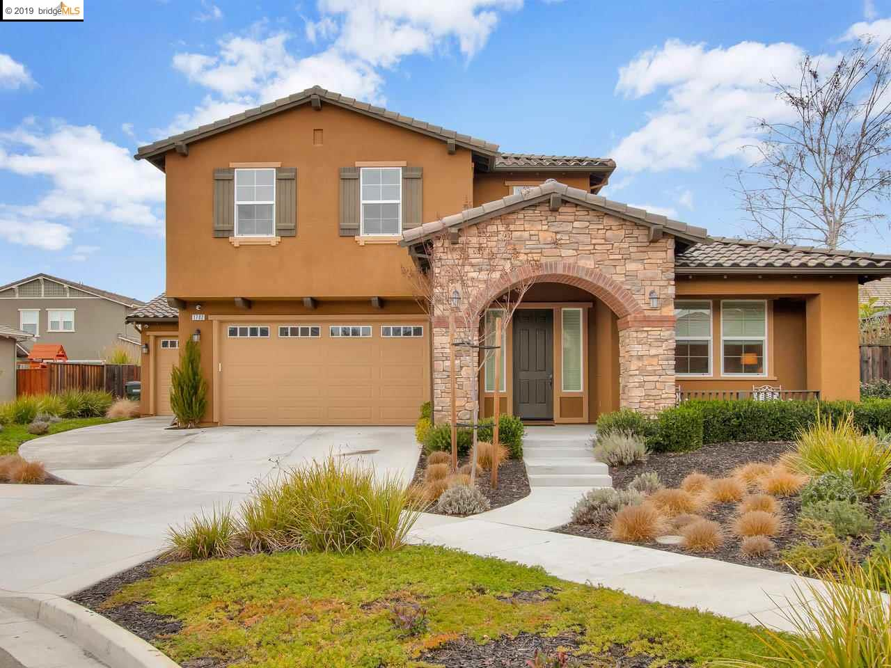 """Amazing Four Bedroom, Three Bath home. Located in South Livermore. Vinsanto Development. Built in 2016. 2824 Sq. Ft. 9,144 Sq. Ft. homesite.  Owned Solar System. Energy efficient home. Highly upgraded. Upgrades include flooring, granite counters & stainless steel appliances. 42"""" built-in refrigerator. Large  landscaped rear yard with stamped concrete patio, turf, flowers, and fruit trees.  Apple, lemon, tangerine, olive and avocado trees. Beautifully landscaped front yard at the end of a court. Three car garage. Close to freeways, schools and shopping. Move-in Ready. Don't miss this opportunity to live in one of the premier neighborhoods of Livermore.  Offer deadline January 20, 2019 at 12:00pm."""