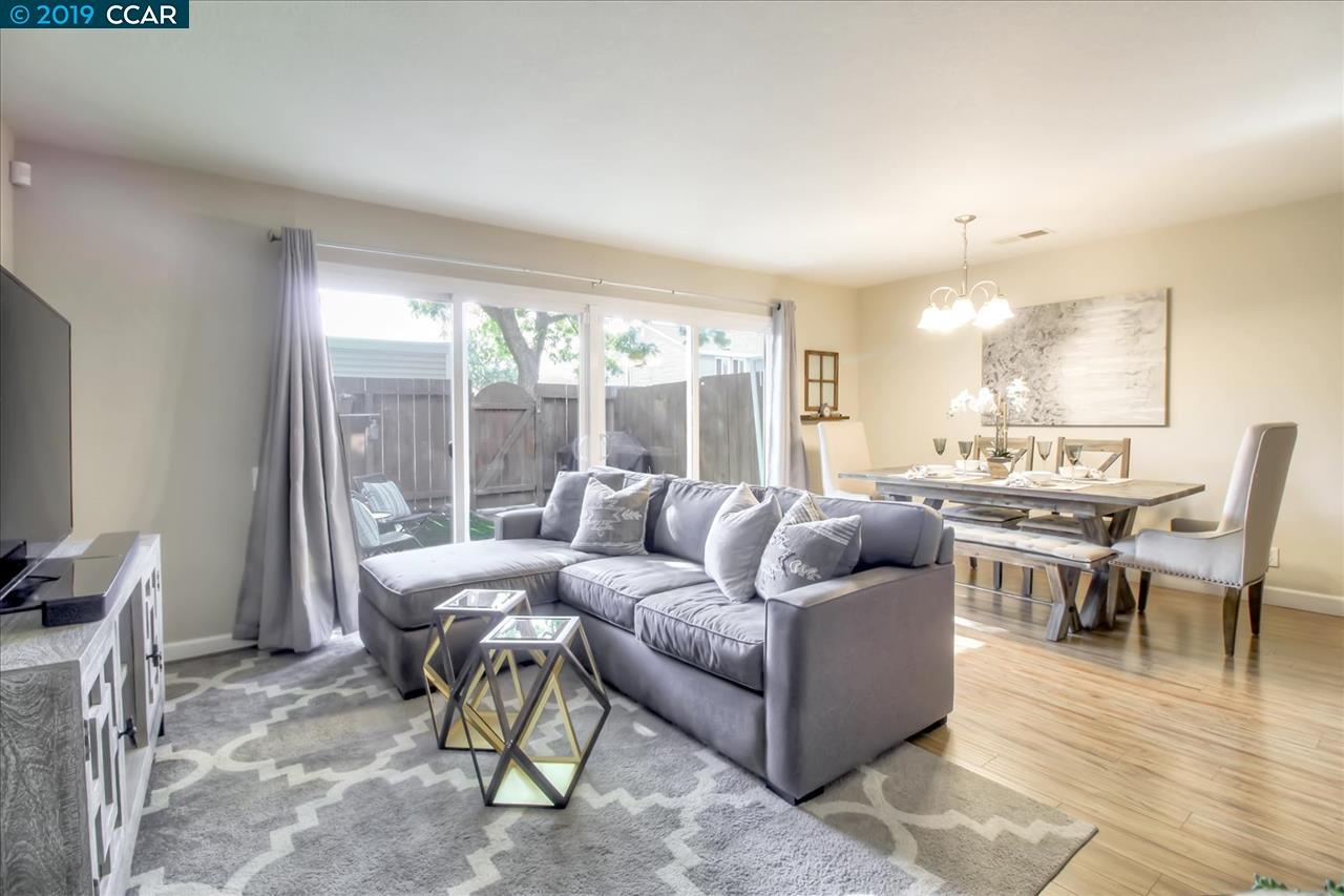 """Located in the quaint community of Livermore, this charming townhome offers many upgrades & high-quality neutral finishes. Throughout the home you will find updated bathrooms including marble shower and tile floors, ample storage, newer carpet, & laminate flooring. The kitchen features granite countertops, soft-close drawers, & stainless steel appliances. Impressive Pella 12' double sliding doors allows for an abundance of natural light & takes you out to the charming patio with upgraded artificial grass & a BBQ area. This home is loaded with """"smart"""" features such as voice & wifi controlled Ecobee thermostat & Ring security sensors throughout. Located near 12+ years of education in the Livermore School District, shopping, dining in downtown Livermore, as well as the valley's famous wineries, this home encapsulates a casual and comfortable lifestyle."""