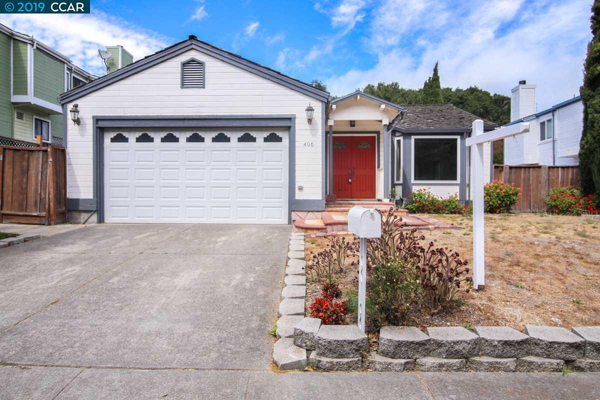 Large single story in Pinole! Lots of potential on this 4 bedroom 2.5 bath rancher. Features include open floor plan, cozy fireplace in living room, large master bedroom w/ on-suite bathroom and walk in closet, spacious bedrooms, 2 car garage and quaint backyard with deck, inside laundry and more. Excellent commuter location! Close to public transportation, freeways and downtown shopping. Wonderful opportunity to build some sweat equity!